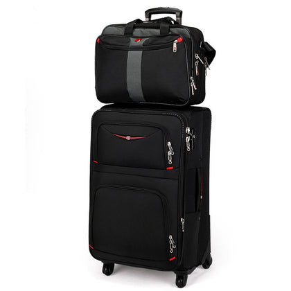 Swiss Army Knife Universal Wheels Trolley Luggage Travel Bag Soft Box Male Luggage Oxford Fabric