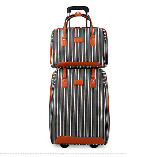 Letrend Women Oxford Rolling Luggage Set Casters Travel Bag Wheel Suitcase 20 Inch Carry On Trolley