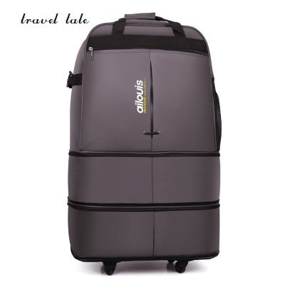 Travel Tale 32/36 Inch Spinner Waterproof Portable Travel Suitcase Nylon Cloth Fabrics, Air Carrier
