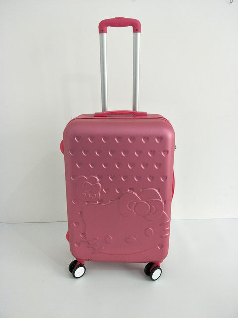 Hello Kitty Luggage Bag ,Women Suitcase,Fashion Abs Cartoon Travel Box,Rolling Carry On,Trolley