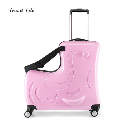 Children'S Travel  Lovely, Cartoon Trojan Pc 19 Inch Size Rolling Luggage Spinner Brand Travel