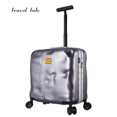 Personality Fashion Damage Style 18 Inch High Quality Abs+Pc Boarding Lockbox Rolling Luggage