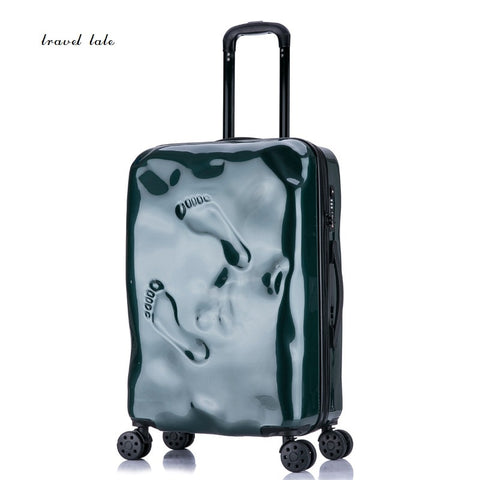 Travel Tale Personality Damaged Footprints Restoring Ancient Ways 100% Pc Suitcase Carry On Spinner