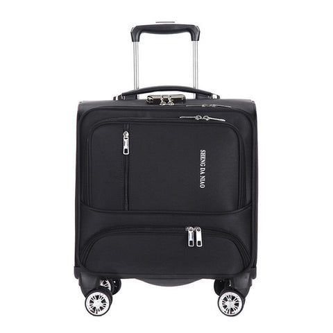 18 Inch Waterproof Oxford Suitcase Trolley Luggage Business Trolley Case Men'S Suitcase Women