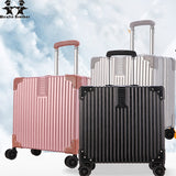 Wenjie Brother 2018 New Quality Aluminum Frame And Pc Travel Trolley Case Hardside Rolling