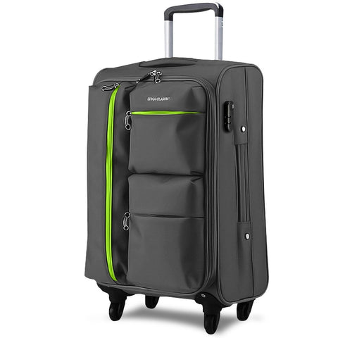 Universal Wheels Trolley Luggage Travel Bag Code Case Soft Box Luggage Bag 20 24 26 28