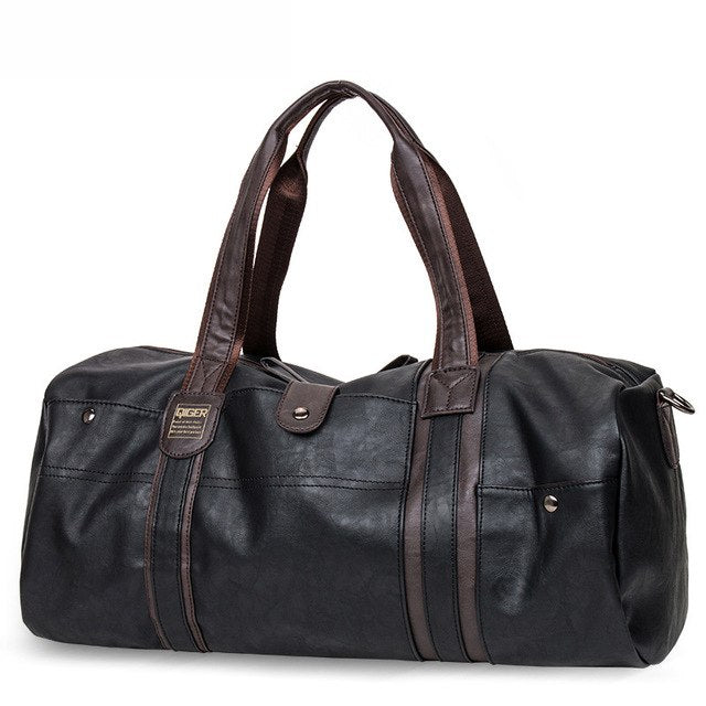 Leather Handbag Men Travel Bag Carry On Luggage Bags Men Duffel Bags Women Tote Portable Weekend