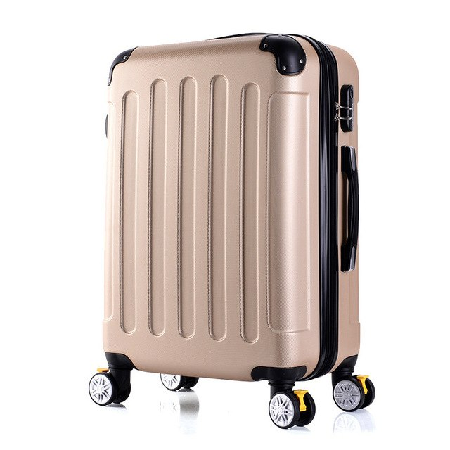 Letrend Fashion Rolling Luggage Spinner 22 Inch Student Suitcase Wheels Trolley 20 Inch Carry On