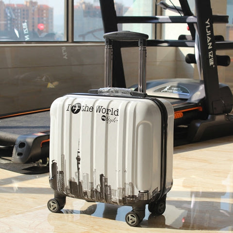Wholesale!18Inches Lovely Cartoon Abs Hardside Trolley Luggage Bag On Universal Wheels,Children