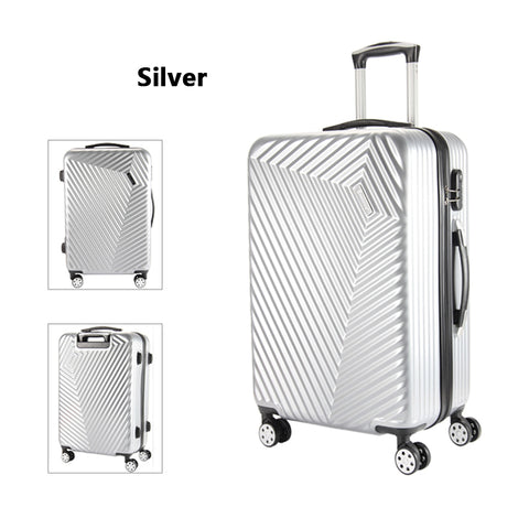Letrend Women Korea Rolling Luggage Spinner Password Trolley Suitcase Wheels 20 Inch Carry On