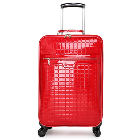 Red Luggage Married The Box Bride Box Suitcase Female Travel Trolley Luggage Bag,16 20 24Fashion