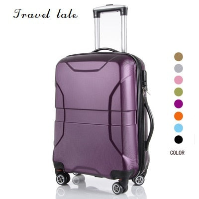 Travel Tale Simple Style Light Easy To Pull Pc Rolling Luggage Spinner Brand Travel Suitcase