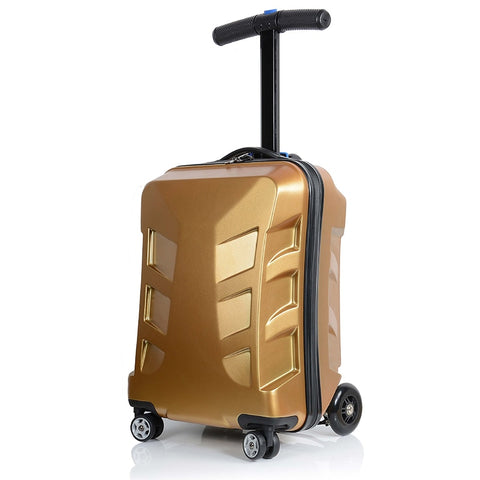 Letrend Creative Scooter Rolling Luggage Spinner Trolley Suitcases Wheels Men Business Carry On