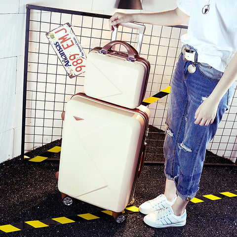 Trolley Luggage Picture Box Universal Wheels Luggage,14 20 22 24 26Inches Travel Luggage