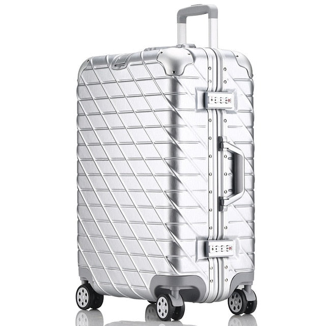 Letrend New Fashion 29 Inch Aluminium Frame Rolling Luggage Trolley Password Box 20' Boarding