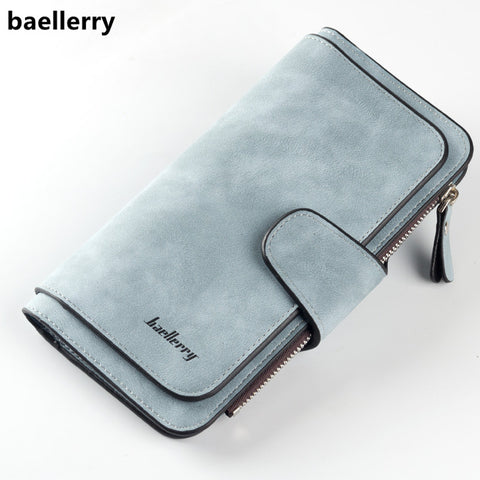 Baellerry Brand Wallet Women Scrub Leather Lady Purses High Quality Ladies Clutch Wallet Long