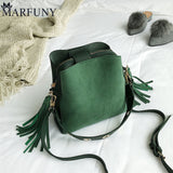 Marfuny Brand Tassel Shoulder Bag Female Vintage Crossbody Bags For Women 2018 Bucket Bag