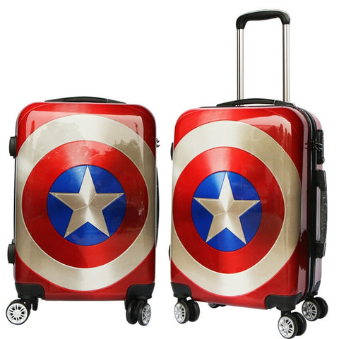 "Cartoon Travel Rolling Luggage Spinner Wheels Kids Suitcase Carry On 20"" 24"" Inch Business Airplane"
