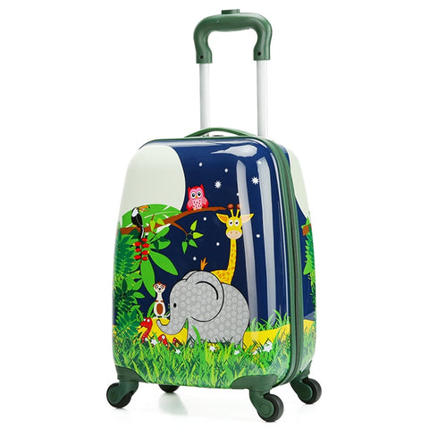 Letrend Cute Animals Rolling Luggage Set Spinner Kids Children Cartton School Backpack Trolley