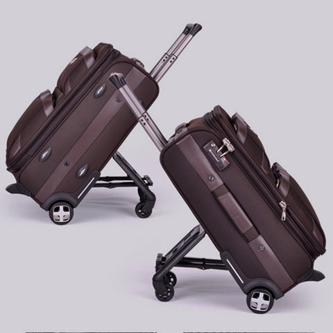 "High Quality 20"" 24"" 28"" Black/Brown Vintage Trolley Luggage,Pull Box,Male And Female Tsa Travel"
