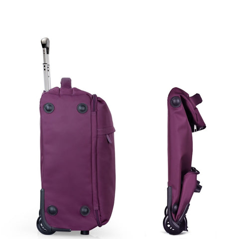 Folding Trolley Luggage One-Way Round Contraction Luggage Travel Bag,High Quality 20 22 24Inches