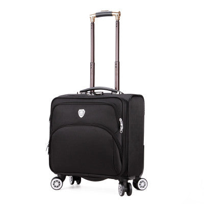 Male Universal Wheels Trolley Luggage 18 Business Casual Oxford Fabric Travel Bag Women'S Fashion
