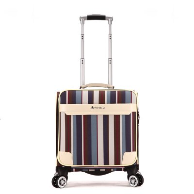 18 Fashion Trolley Luggage Women'S Universal Wheels Red Small Luggage Travel Bag Male Pu