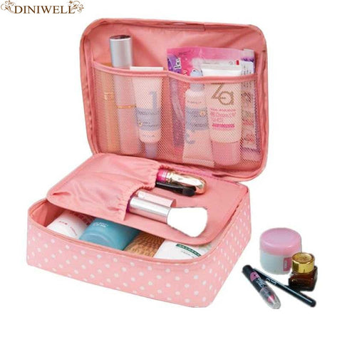 Dinmiwellwomen Makeup Bag Cosmetic Bag Case Make Up Organizer Toiletry Storage  Rushed Floral Nylon