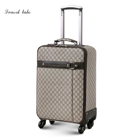 Travel Tale Fashion Noble 16/18/20/22/24 Inches Pvc High Quality Rolling Luggage Spinner Brand
