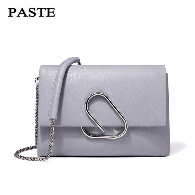 Free Shipping, Paste Shoulder Bag 100% Soft Genuine Leather Ol Style Women'S Handbags Ladies