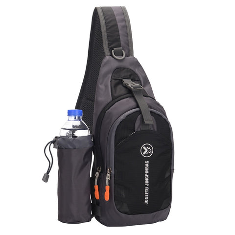 Sling Backpack Wear Resistant Waterproof Shoulder Chest Pack Crossbody Bag With Detachable Water