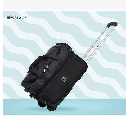 Men Business Trolley Bags Wheeled Bag Women Travel Luggage Case Nylon Suitcase Travel Rolling