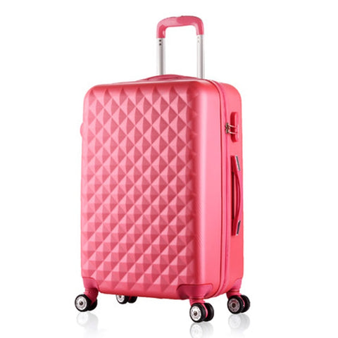 20 Inch Woman Travel Case Suitcases,Diamond Luggage Travel Bag,Abs Travel Luggage,Rolling