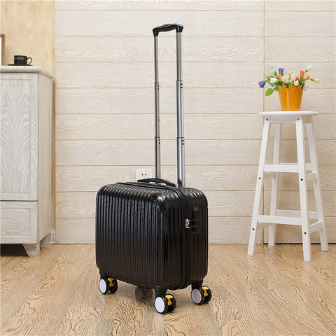 Wholesale!16 Inch High Quality Pc Candy Color Travel Luggage On Universal Wheels With Brake,Green