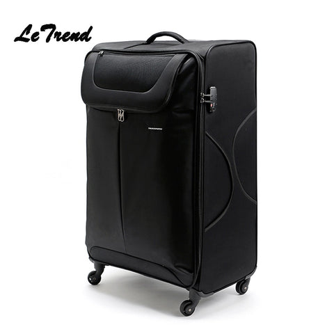 Letrend Large Capacity 32 Inch Canvas Rolling Luggage Spinner Wheel Suitcase Trolley Men Carry On