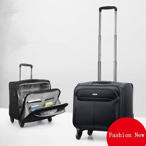 16 Universal Wheels Trolley Luggage Commercial Luggage Small 18 Luggage Travel Bag,High Quality