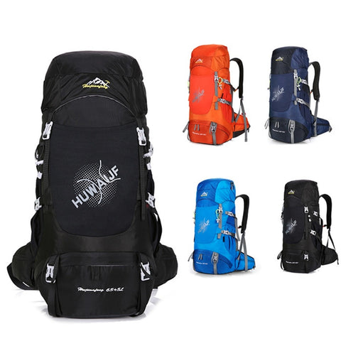 New 60L + 5L Travel Bag Large Capacity Backpack For Men Women Casual Multifunction Shoulder Bag