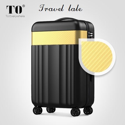 Travel Tale Color Stitching 20/22/24/26/28 Inches Abs  High Quality Rolling Luggage Spinner Brand
