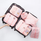 7Pcs/Set Travel Storage Bags Shoes Clothes Toiletry Organizer Waterproof Luggage Pouch Kits