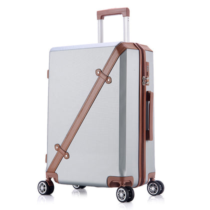 Fashion Abs High Quality 20''22''24''26'' Unisex Hardside Trolley Luggage Youth Girls Popular