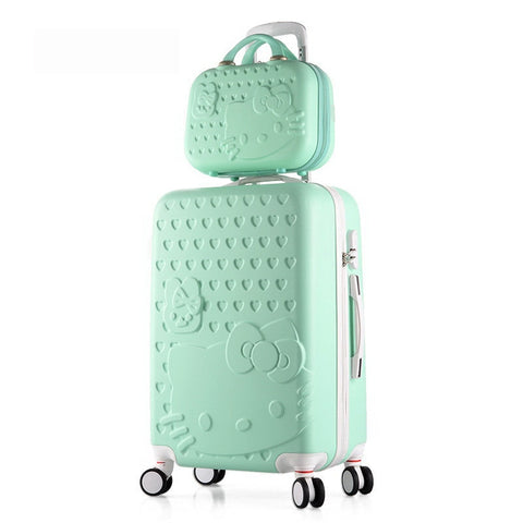 24Inch Sets High Quality Trolley Suitcase Luggage Traveller Case Box Pull Rod Trunk Rolling Spinner