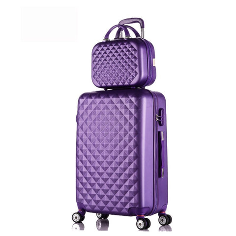 "28""+12""Hot Sales Diamond Lines Trolley Suitcase Set/Travell Case Luggage/Pull Rod Trunk Rolling"