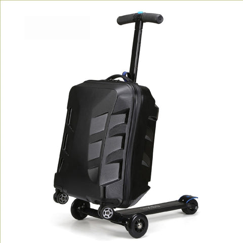 100% Pc Fashion 20 Inch Students Scooter Trolley Suitcase/Boy Cool 3D Cover Extrusion Business Trip