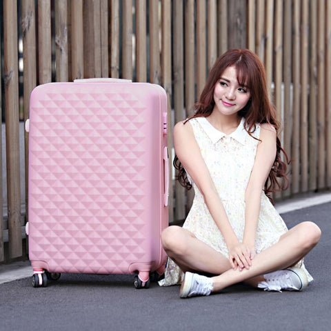 "28"" High Quality Diamond Lines Trolley Suitcase /Travell Case Luggage/Pull Rod Trunk Rolling"