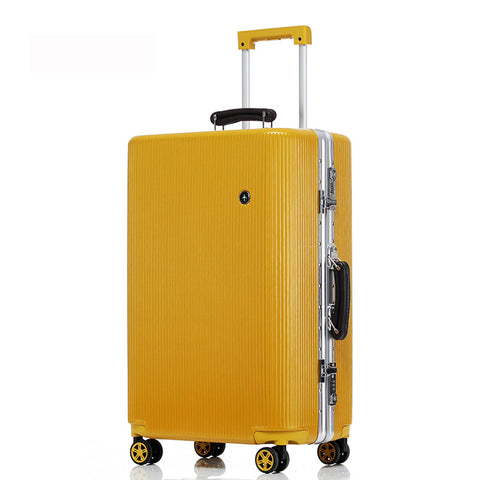 "20 ""24"" 26 ""28"" White Silver Pink Gold Black Aluminum Frame And Pc Travel Trolley Case Hardside"