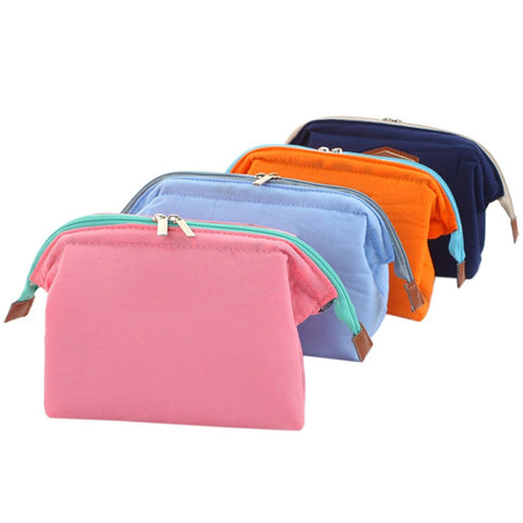 Printing Fashionable Cosmetic Bag Portable Wash Bag Steel Frame Cosmetic Bag