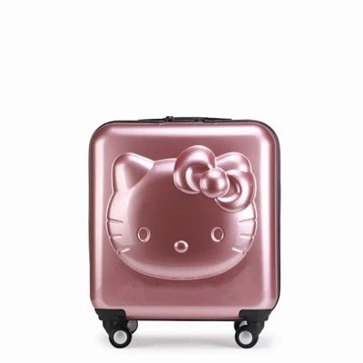 Kids Hello Kitty Suitcase Bag Set,Women Luggage,Gift For Children ,Cartoon Rolling Travel