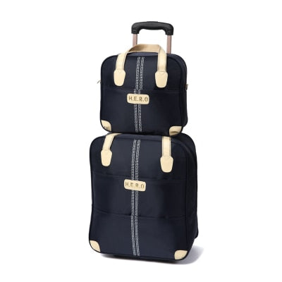 Waterproof Luggage Bag Set, Oxford Cloth Rolling Travel Suitcase,Large Capacity,Trolley Carry-Ons