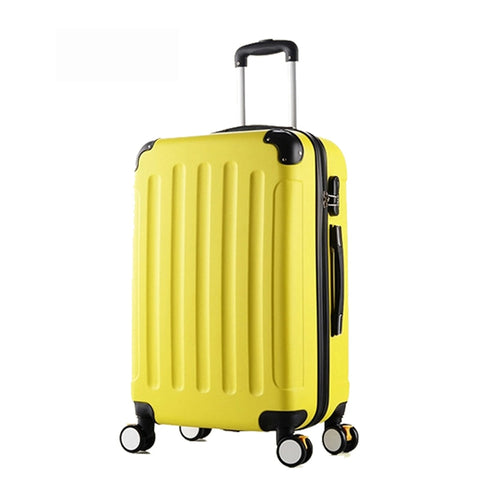24 Inch Classic Striped Patch Trolley Suitcase/Rolling Spinner Wheels Pull Rod Luggage/Women Girl