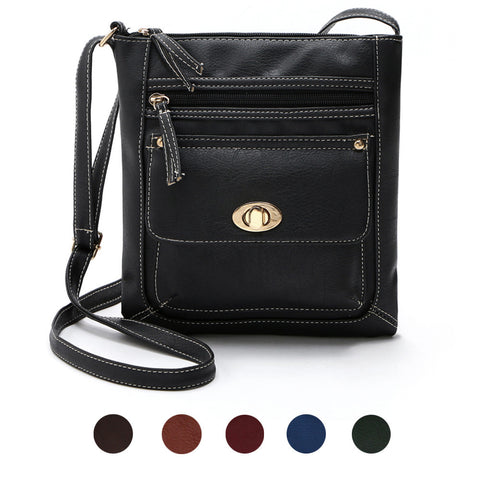 Womens Leather Satchel Cross Body Shoulder Messenger Bag